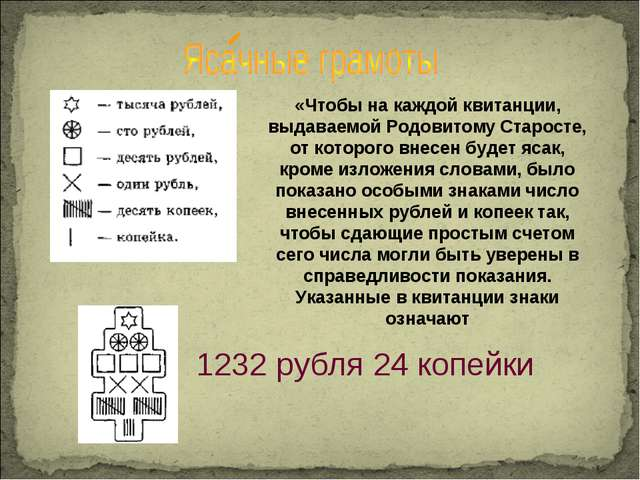 1232 рубля 24 копейки «Чтобы на каждой квитанции, выдаваемой Родовитому Старо...