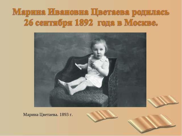 Марина Цветаева. 1893 г.