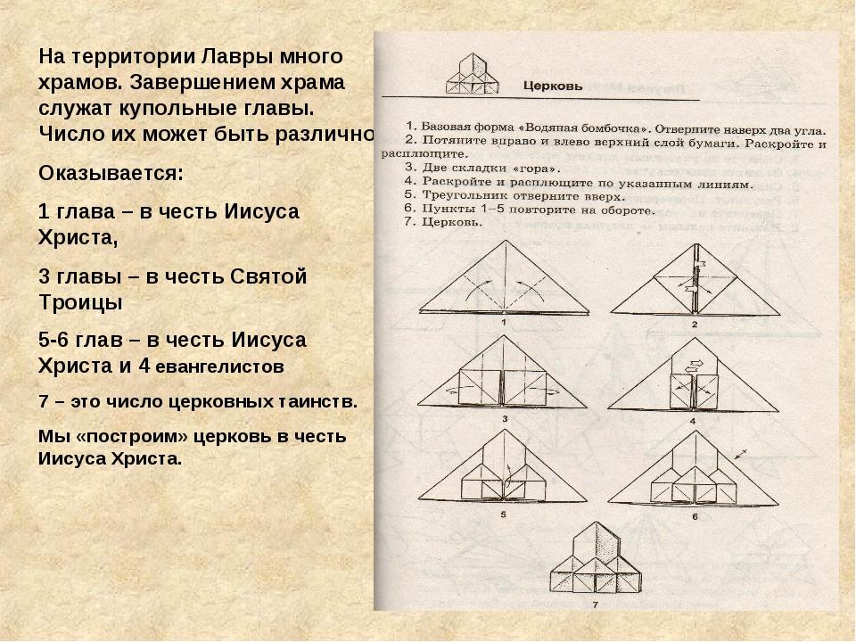 На территории Лавры много храмов. Завершением храма служат купольные главы. Ч...