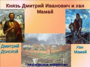 Князь Дмитрий Иванович и хан Мамай Московское княжество Дмитрий Донской Хан М