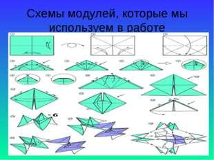 Схемы модулей, которые мы используем в работе
