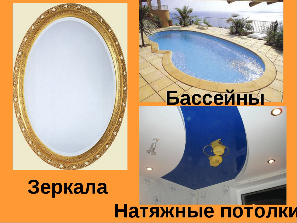 Натяжные потолки Бассейны Зеркала