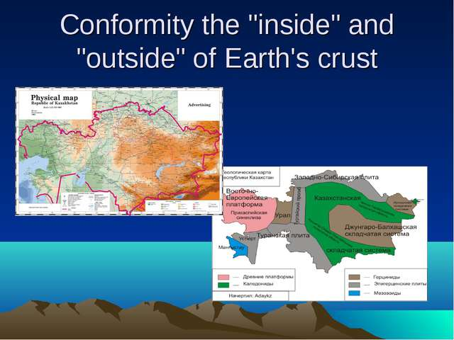 "Conformity the ""inside"" and ""outside"" of Earth's crust"