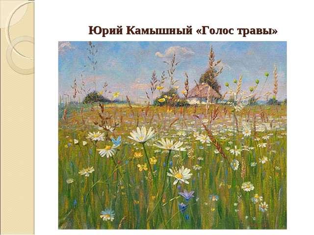 Юрий Камышный «Голос травы»
