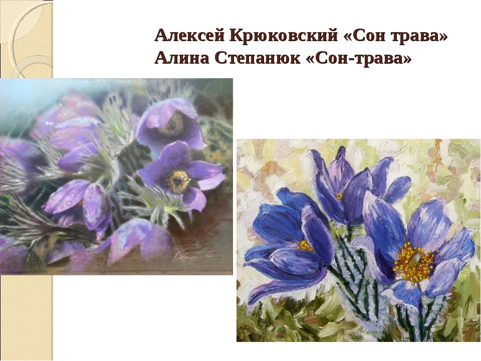 Алексей Крюковский «Сон трава» Алина Степанюк «Сон-трава»