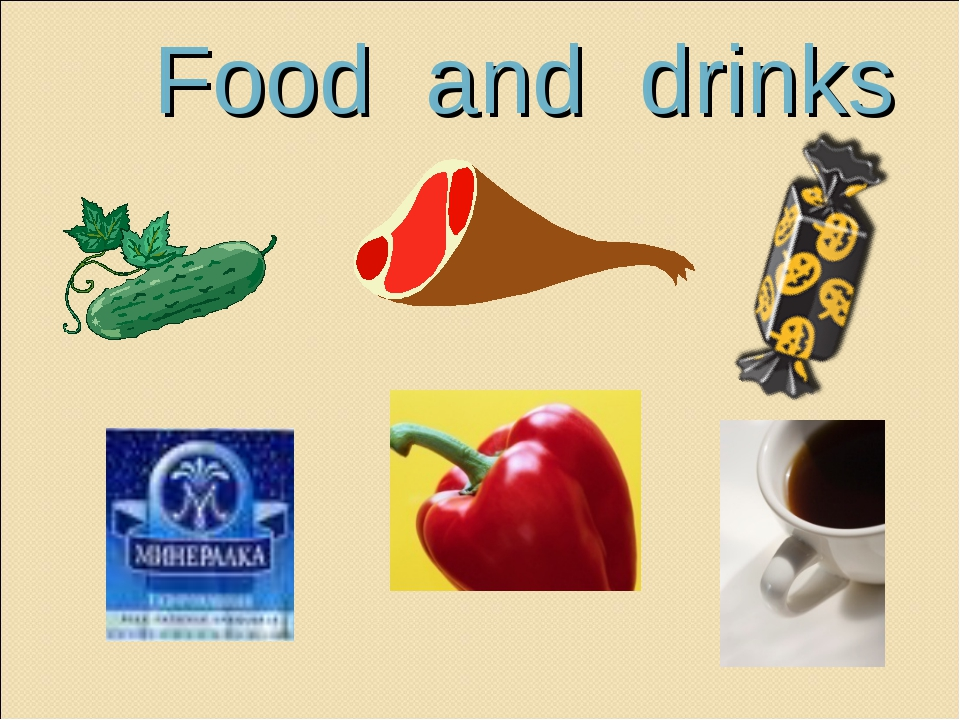 Food and drinks