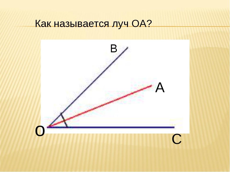 о В С А Как называется луч ОА?