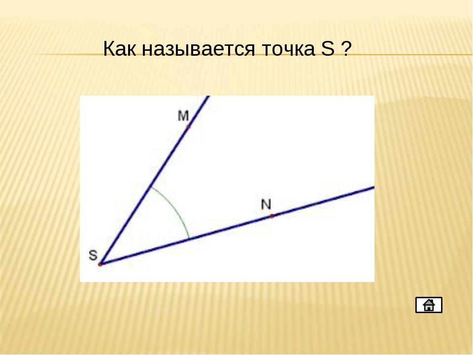 Как называется точка S ?