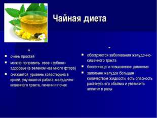 Чайная диета + очень простая можно поправить свое «зубное» здоровье (в зелено