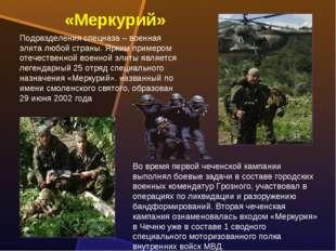 Подразделения спецназа – военная элита любой страны. Ярким примером отечестве