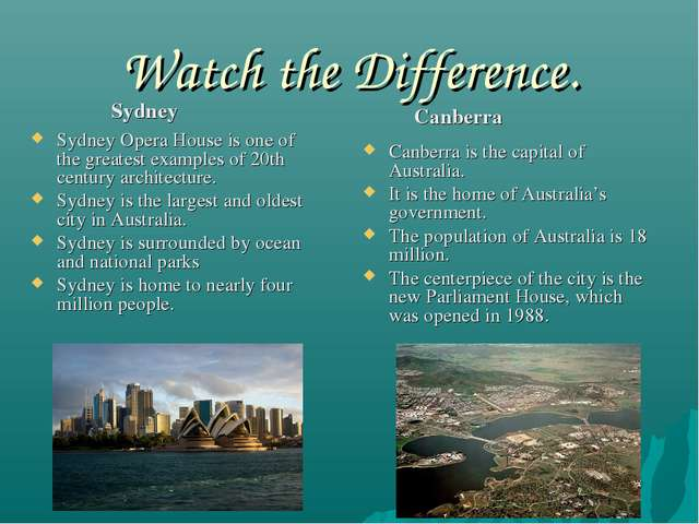 Watch the Difference. Sydney Opera House is one of the greatest examples of 2...