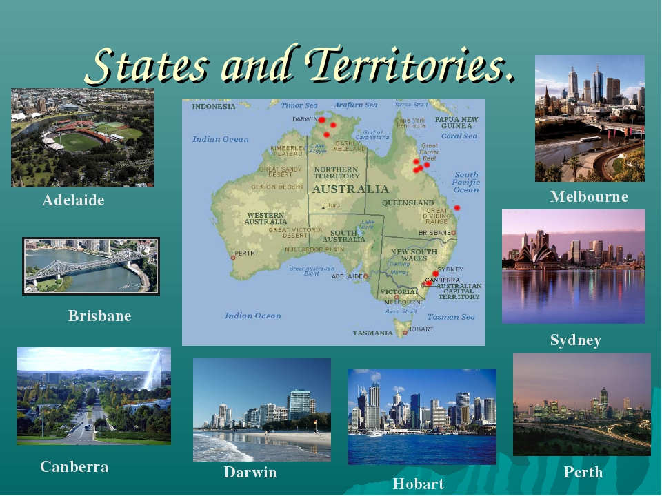 States and Territories. Adelaide Brisbane Canberra Darwin Hobart Perth Sydney...