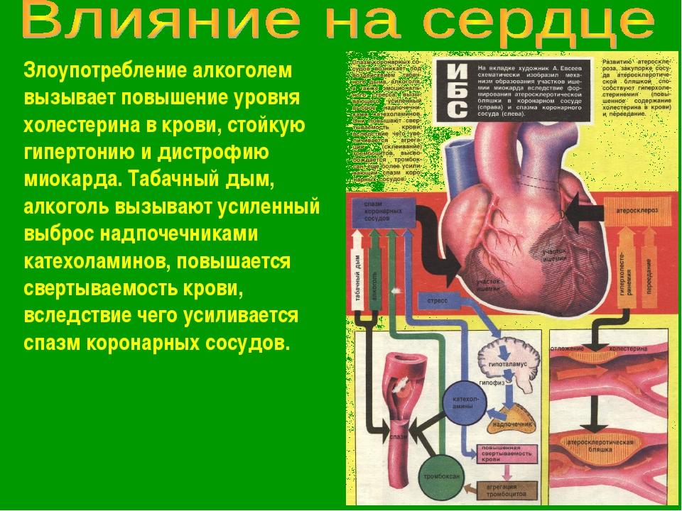 Злоупотребление алкоголем вызывает повышение уровня холестерина в крови, стой...