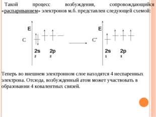 Такой процесс возбуждения, сопровождающийся «распариванием» электронов м.б. п