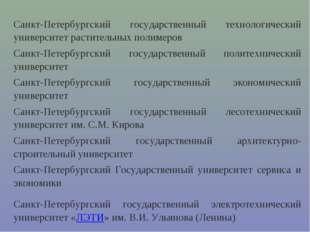 Санкт-Петербургский государственный технологический университет растительных