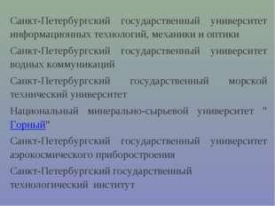 Санкт-Петербургский государственный университет информационных технологий, ме
