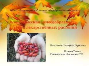 Выполнили: Федорова Кристина Носкова Тамара Руководитель: Линчевская Т В МБОУ