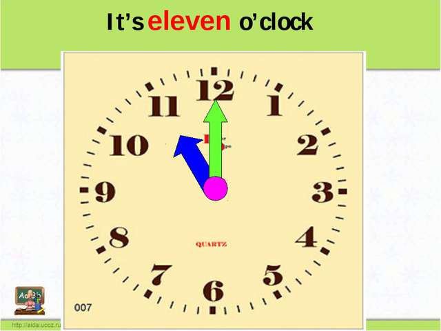It's eleven o'clock