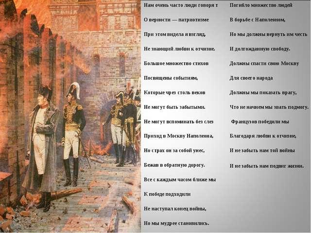 29.03.12 Погибло множество людей В борьбе с Наполеоном, Но мы должны вернуть...