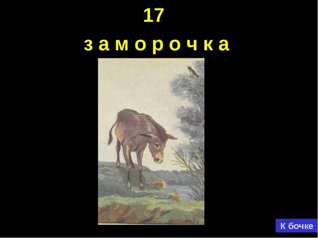 17 з а м о р о ч к а К бочке