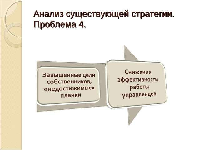 Анализ существующей стратегии. Проблема 4.