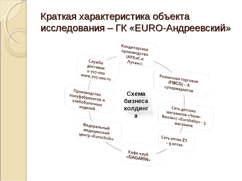 Краткая характеристика объекта исследования – ГК «EURO-Андреевский»