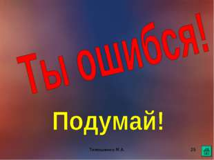 Тимошенко М.А. * Тимошенко М.А.