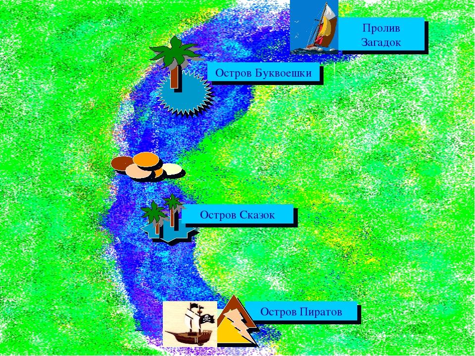Пролив Загадок Остров Буквоешки Остров Сказок Остров Пиратов