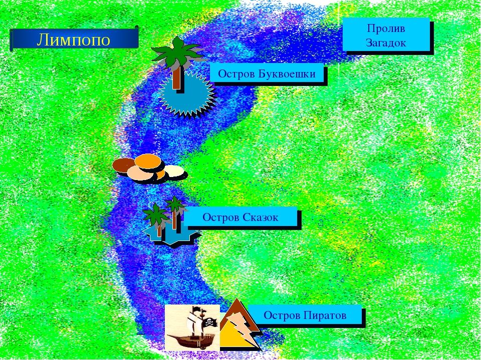 Пролив Загадок Остров Буквоешки Остров Сказок Остров Пиратов Лимпопо