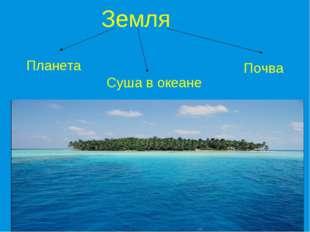 Земля Планета Почва Суша в океане