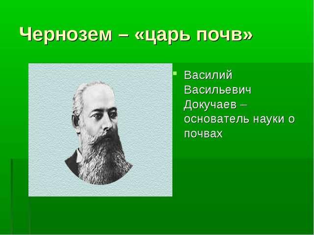 Чернозем – «царь почв» Василий Васильевич Докучаев – основатель науки о почвах