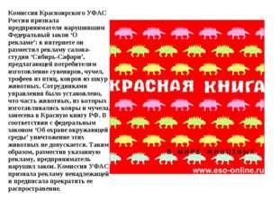 Комиссия Красноярского УФАС России признала предпринимателя нарушившим Федера