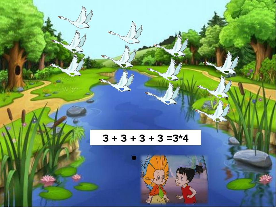 3 + 3 + 3 + 3 =3*4