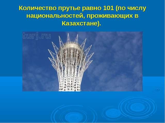 Количество прутье равно 101 (по числу национальностей, проживающих в Казахста...
