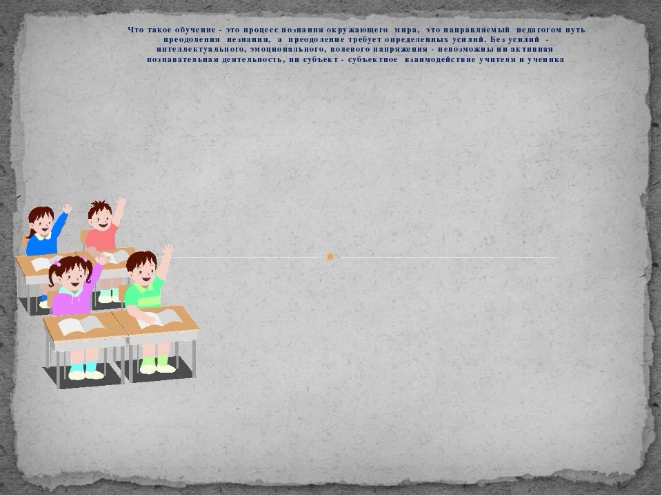 Что такое обучение - это процесс познания окружающего мира, это направляемый...