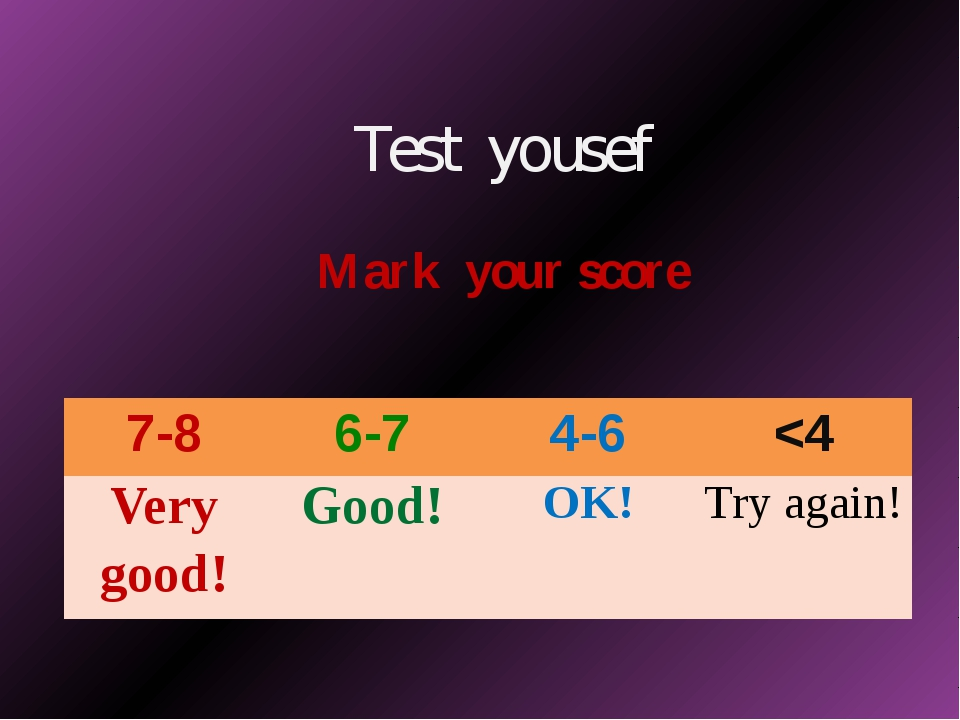 Test yousef Mark your score 7-8 6-7 4-6