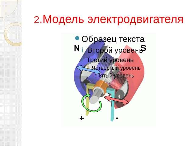 2.Модель электродвигателя