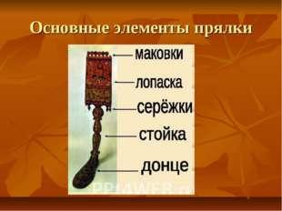 Основные элементы прялки