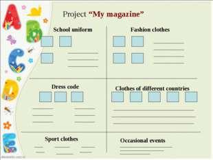 "Project ""My magazine"" School uniform Fashion clothes Dress code Clothes of d"