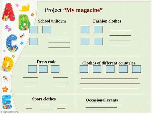 "Project ""My magazine"" School uniform Fashion clothes Dress code Clothes of d..."