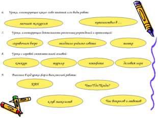 6. Уроки, имитирующие какие-либо занятия или виды работ: Уроки, имитирующие д