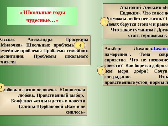 « Школьные годы чудесные…» Анатолий Алексин «Безумная Евдокия». Что такое до...