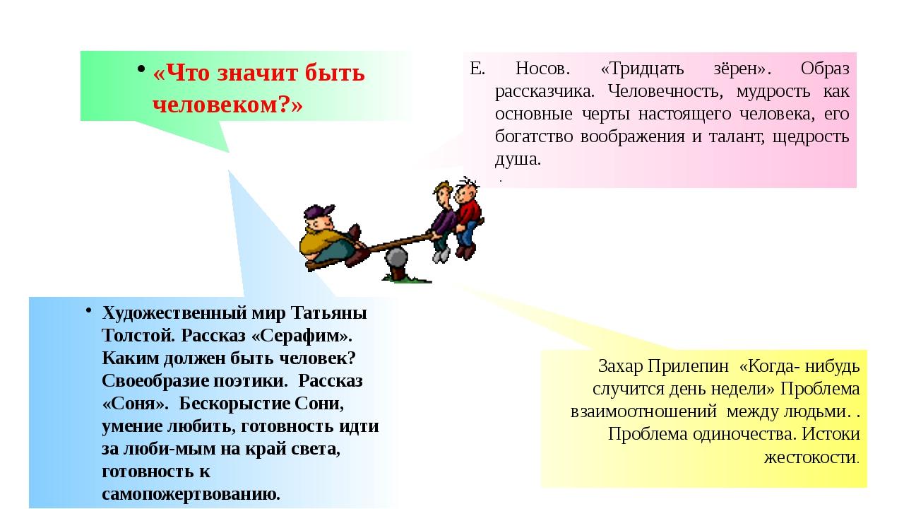 Художественный мир Татьяны Толстой. Рассказ «Серафим». Каким должен быть чел...