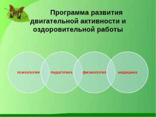 Программа развития двигательной активности и оздоровительной работы