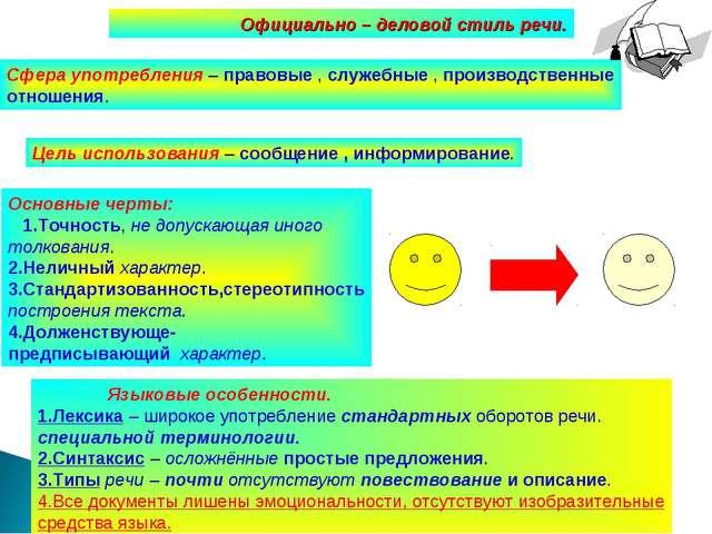 Развитие речи.5 класс. Калашникова В.И. МКОУ Юдинская ООШ. Официально – делов...