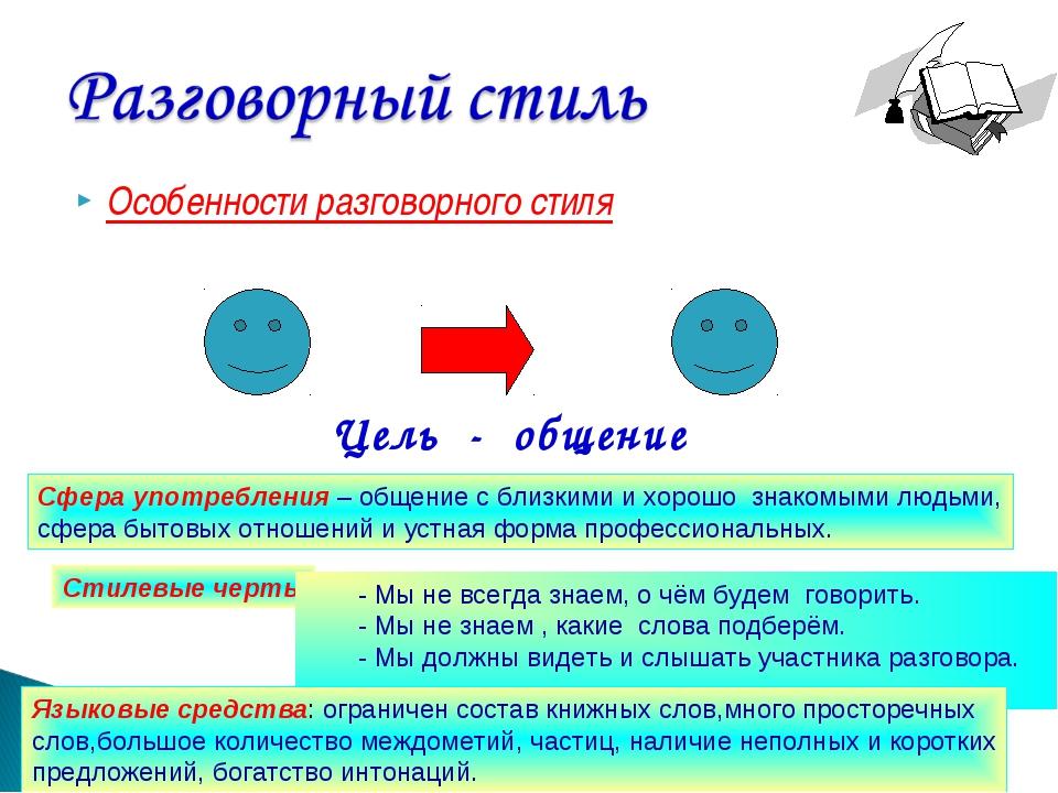Особенности разговорного стиля Развитие речи.5 класс. Калашникова В.И. МКОУ Ю...