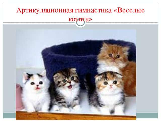 Артикуляционная гимнастика «Веселые котята»