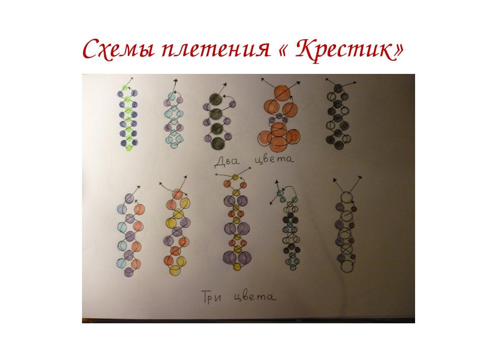 Схемы плетения « Крестик»