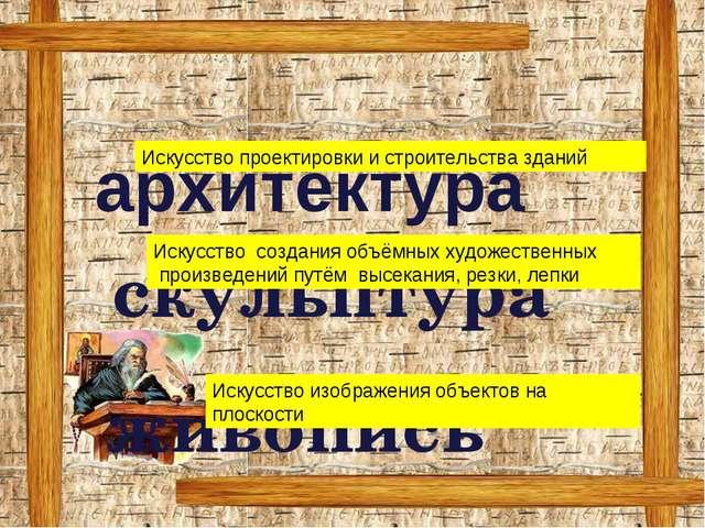 скульптура живопись архитектура Искусство проектировки и строительства здани...