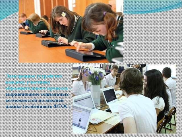 Электронное устройство каждому участнику образовательного процесса – выравнив...